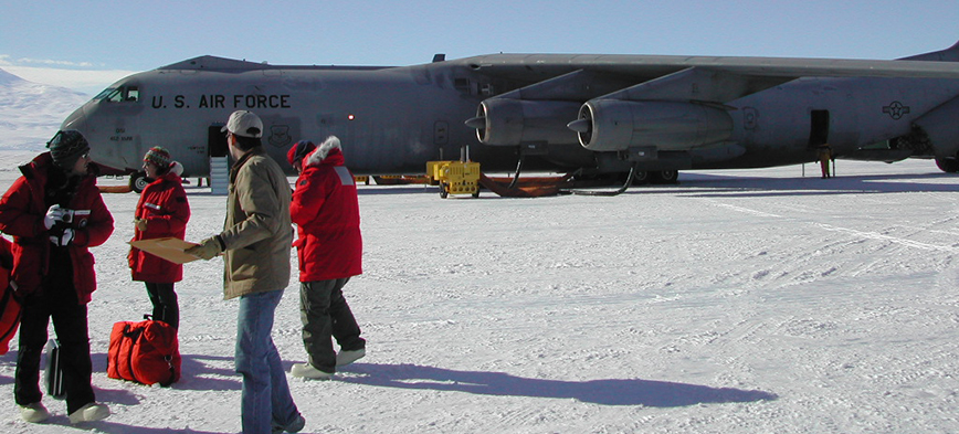 Air Force jet on runway