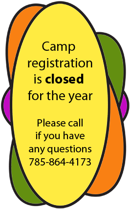 Call to book summer camps 785-864-4173