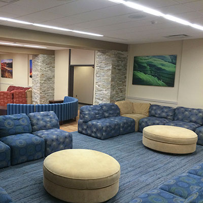 Dormitory lounge
