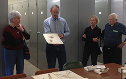 People touring herbarium