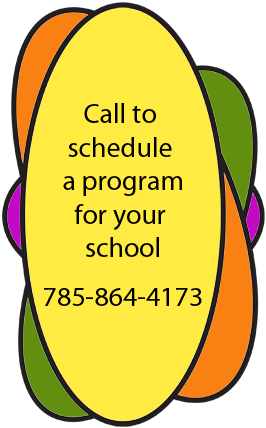 Book a school program 785.864-4183